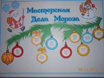 Положение конкурс мастерская деда мороза в доу